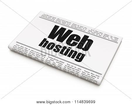 Web design concept: newspaper headline Web Hosting