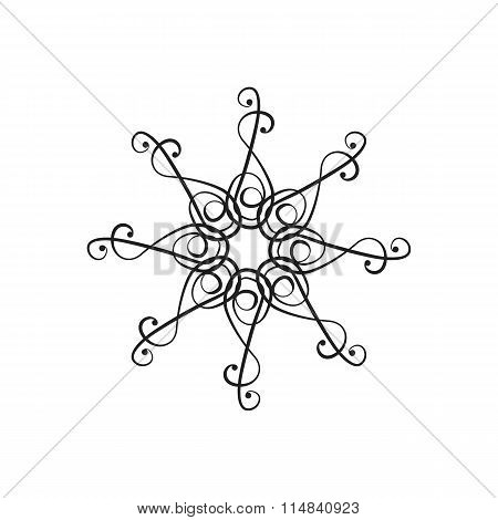 Vector design element in the form of a chandelier.