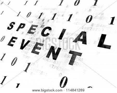 Business concept: Special Event on Digital background