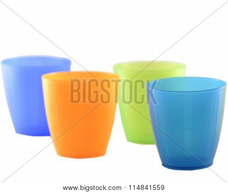 Plastic Cups Colored