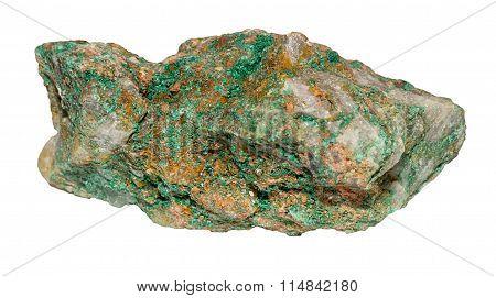 Bright Green Malachite From Morocco/congo Isolated