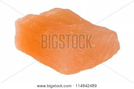 Red Gypsum Stone From Morocco Isolated