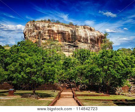 Sigiriya rock - famous Sri Lankan tourist landmark, Sri Lanka