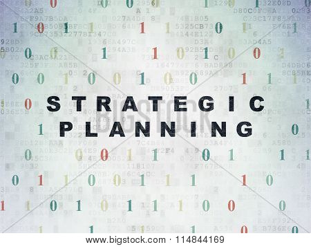 Finance concept: Strategic Planning on Digital Paper background