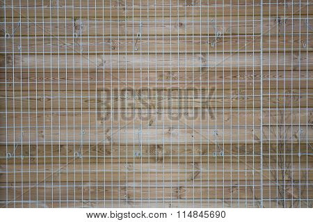 Wood Lattice Of Crosswise Planking With Clipping Path