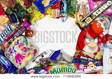 Candies, chocolates and sweets