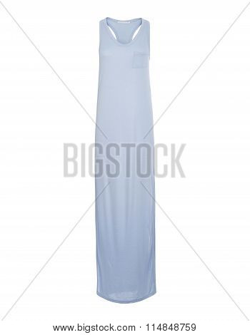 Cut-out Of Off-white Razorback Long Dress On Invisible Mannequin