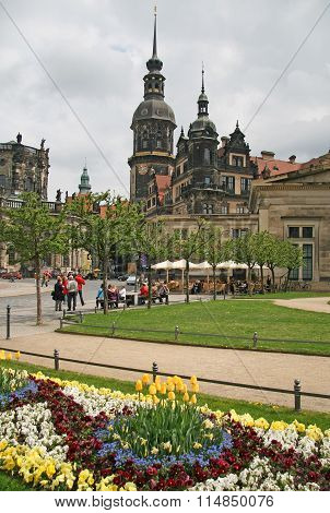 Dresden, Germany - April 27, 2010: Dresden Castle Or Royal Palace (dresdner Residenzschloss Or Dresd