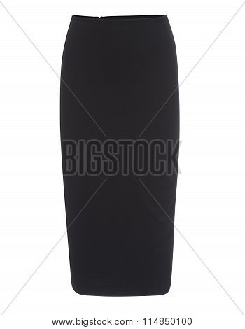 Cut-out Of Plain Black Pencil Skirt On Invisible Mannequin