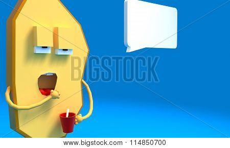 Slice of bread cartoon. yawn