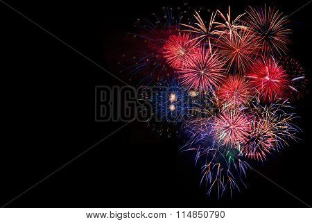 Festive Bright Celebration Fireworks