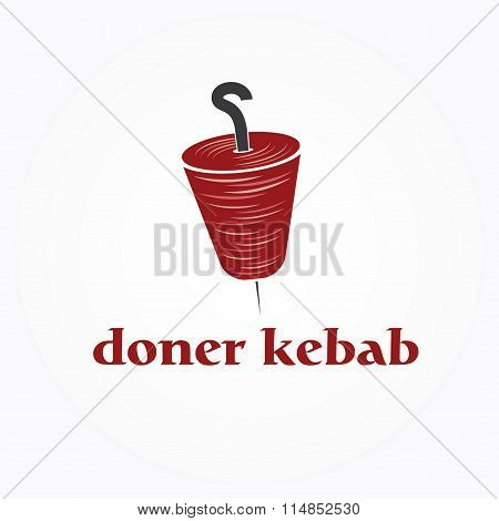 Vector Illustration Of Doner Kebab