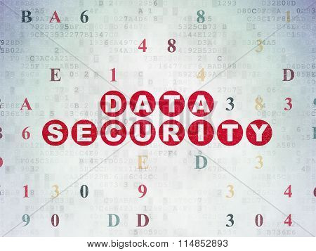 Privacy concept: Data Security on Digital Paper background