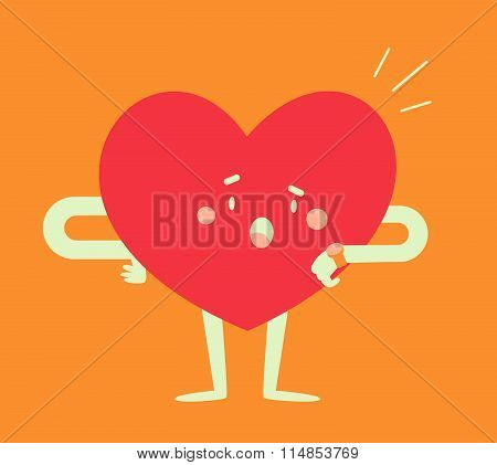 Worried Heart Checking The Time
