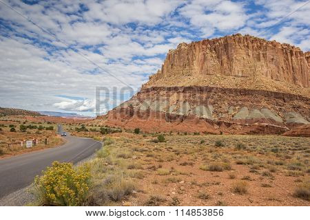 Scenic Drive In Capitol Reef National Park