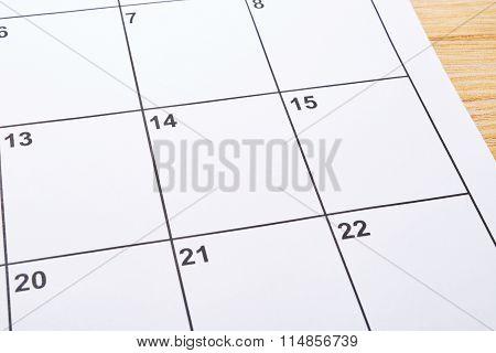 Empty Valentines Day In Agenda