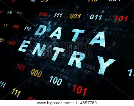 Information concept: Data Entry on Digital background