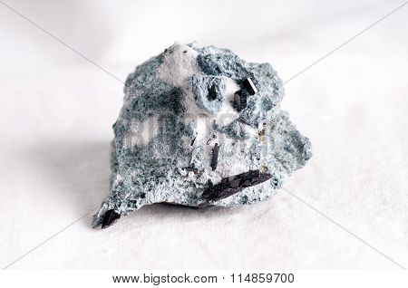 Neptunite And Natrolite On Crosite