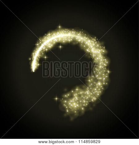 glowing dust from glittering stras