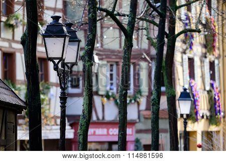 Street Lanterns In Colmar, France