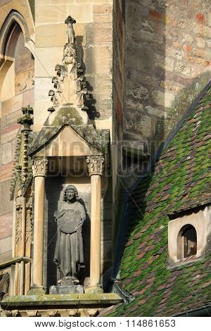 Statue Of St Martin's Church, Colmar, France