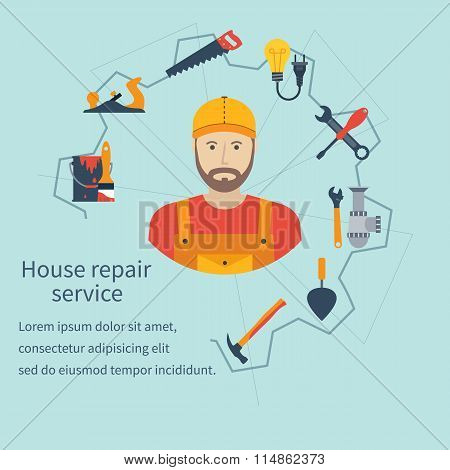House Repair Service. Repairman