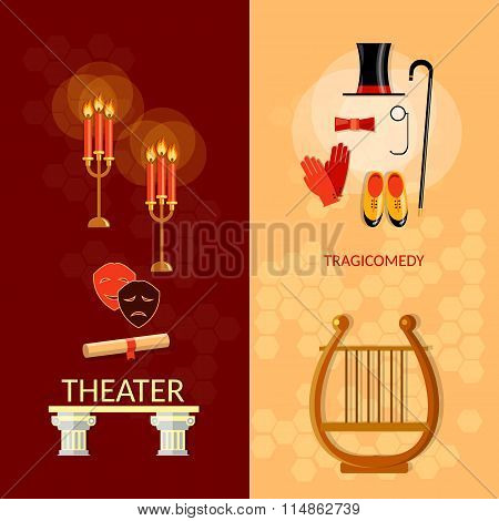 Theatre Banner Theater Entertainment And Performance Elements Musical Operetta Literature Dramaturgy