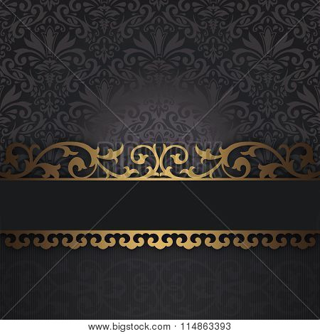 Decorative Background With Vintage Border.
