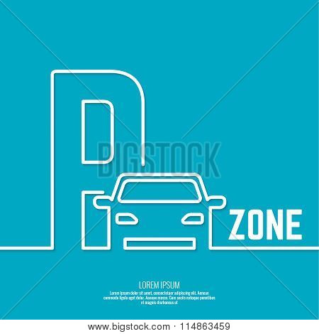 Pointer to the car parking zone.
