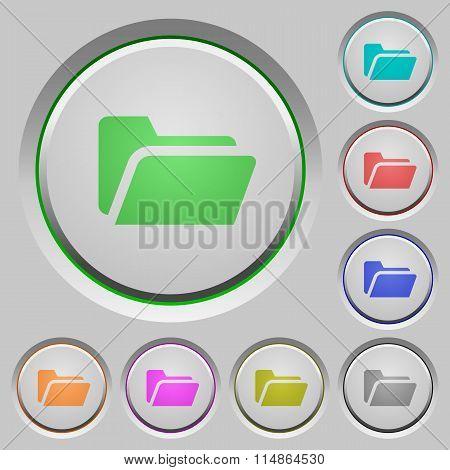 Folder Open Push Buttons