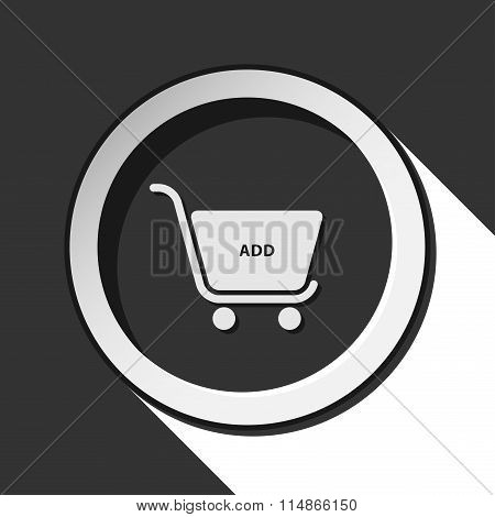 Icon - Shopping Cart Add With Shadow