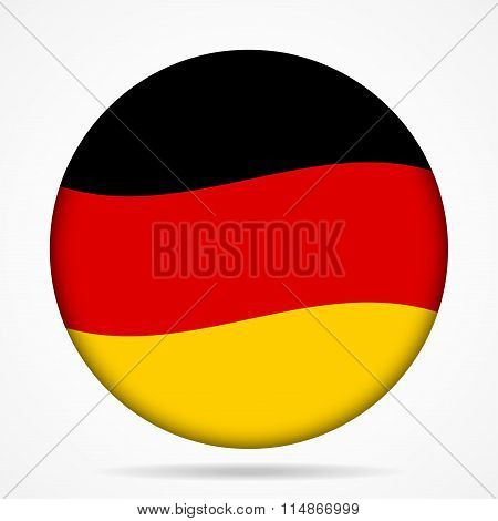 Button With Waving Flag Of Germany