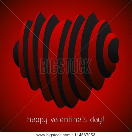 Valentines Greeting - Spatial Harmonica Hearts
