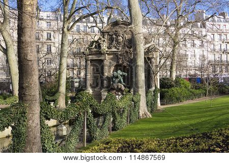 The Medici Fountain In The Jardin Du Luxembourg.