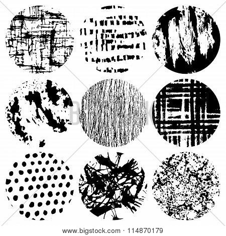 Black and white vector elements or brush for design
