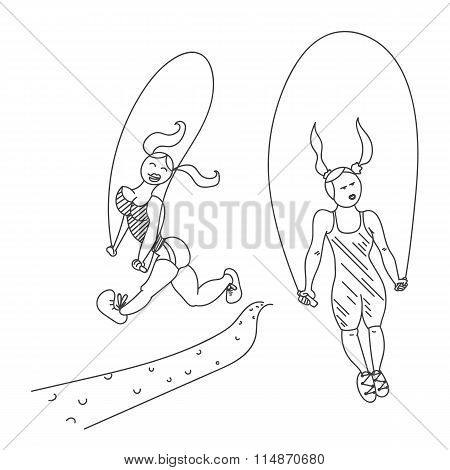 Two female rope jumpers