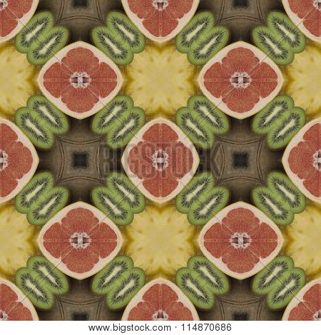 Seamless texture to the dining room tablecloth. The concept of diet food