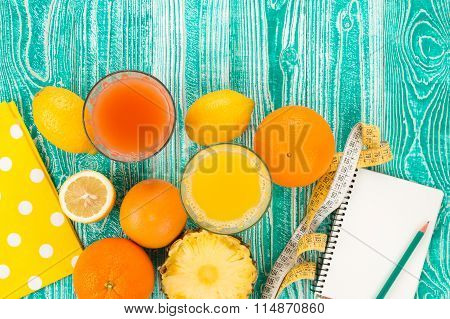 fresh juice in glass