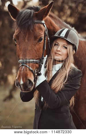 Blondie With Horse