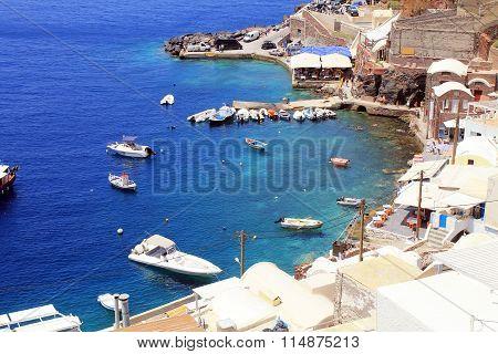 Beautiful Amoudi Bay, Santorini Island, Greece.