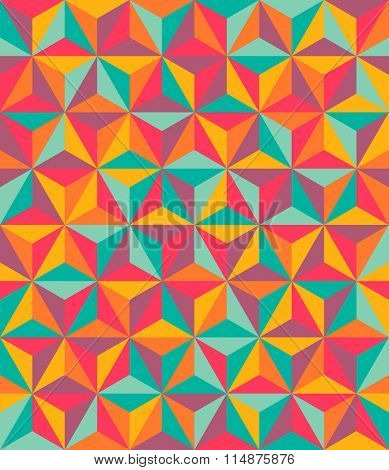 Triangles colorful abstract seamless pattern
