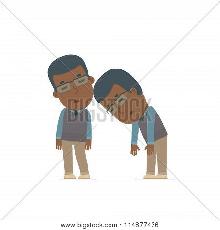 Tired And Exhausted Character African American Teacher Sleeping On The Shoulder Of His Friend