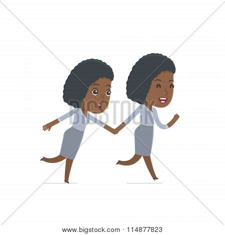 Happy And Joyful Character Social Worker Runs And Drags His Friend To Show Him Something