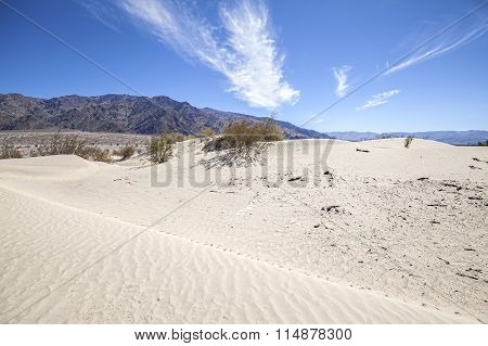 Sand Dunes In Death Valley National Park, Stovepipe Wells, Usa.