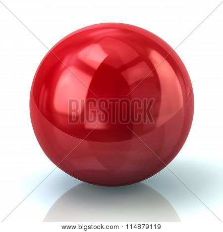 Illustration Of Red Sphere