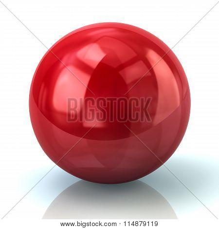 Illustration Of Red Sphere