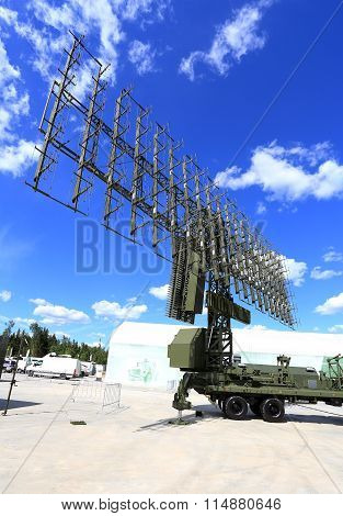MOSCOW REGION  - JUNE 17: All around antenna on a mobile rotating platform  -  on June 17, 2015 in Moscow region