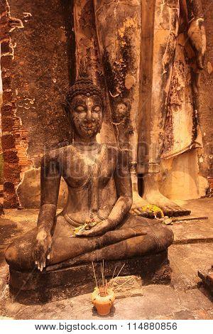 Asia Thailand Sukhothai Temple, Wat Saphan Hin