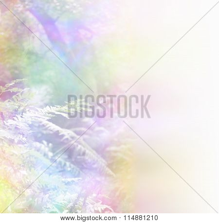 Rainbow Foliage Background