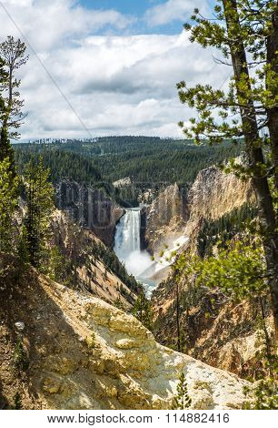 Lower Falls Of The Yellowstone River, Wyoming, Usa